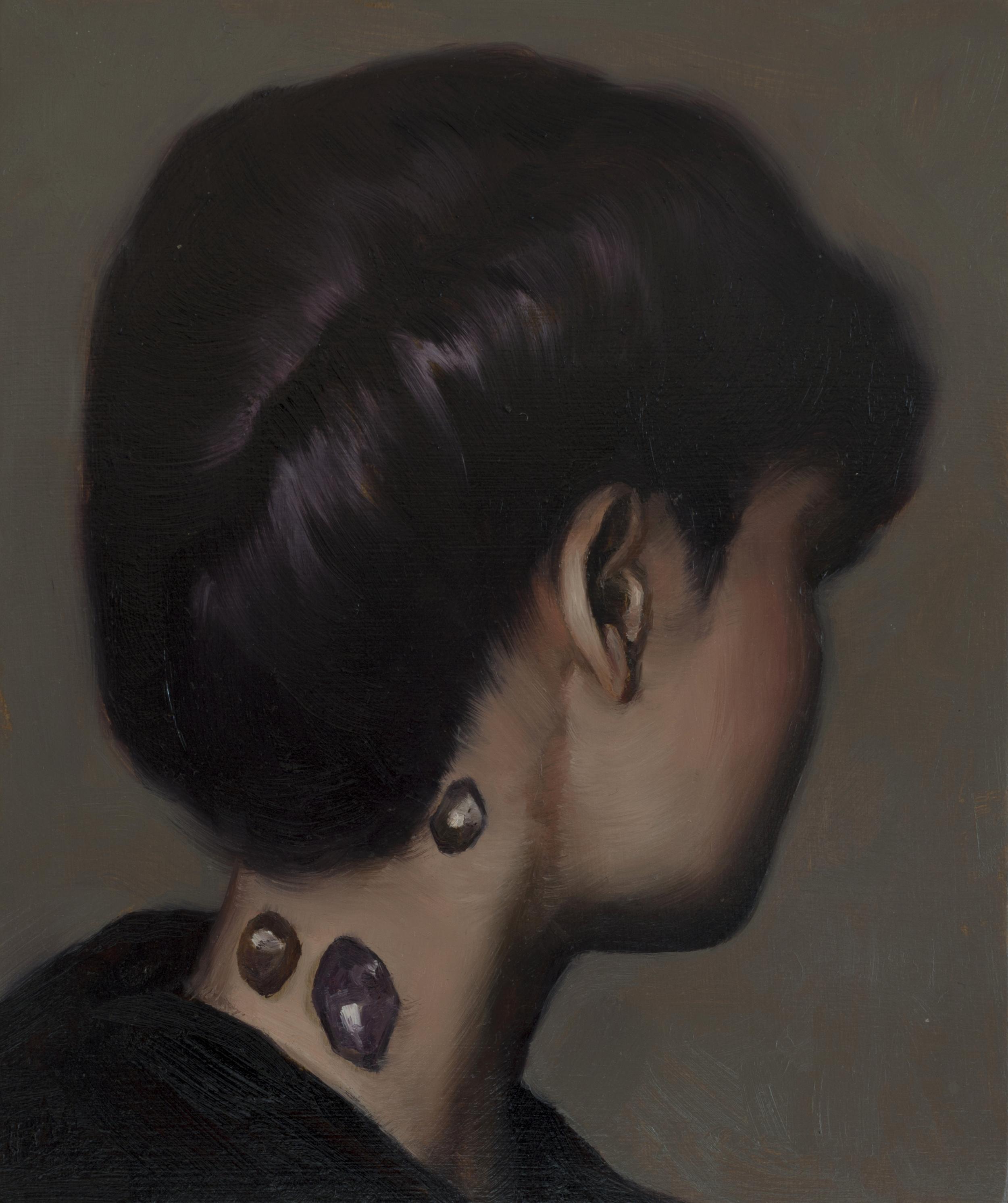 Heidi Yardley - Study for Healer#1, 2011, oil on board, 18 x 10cm