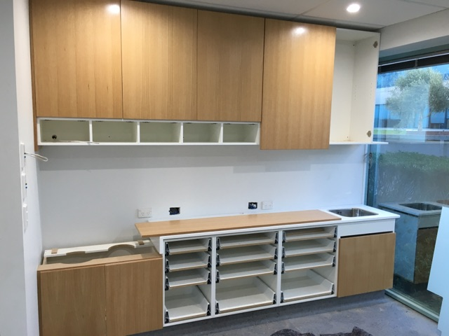 With current increased workloads in the building industry,companies like Keenan Interiors,can benefit from Cutshop's  outsourced cutting service - enabling their jobs to be done faster with consistent quality, as shown by the work in these progress photos. Job: Keenan Interiors / Icon Dental North Shore.