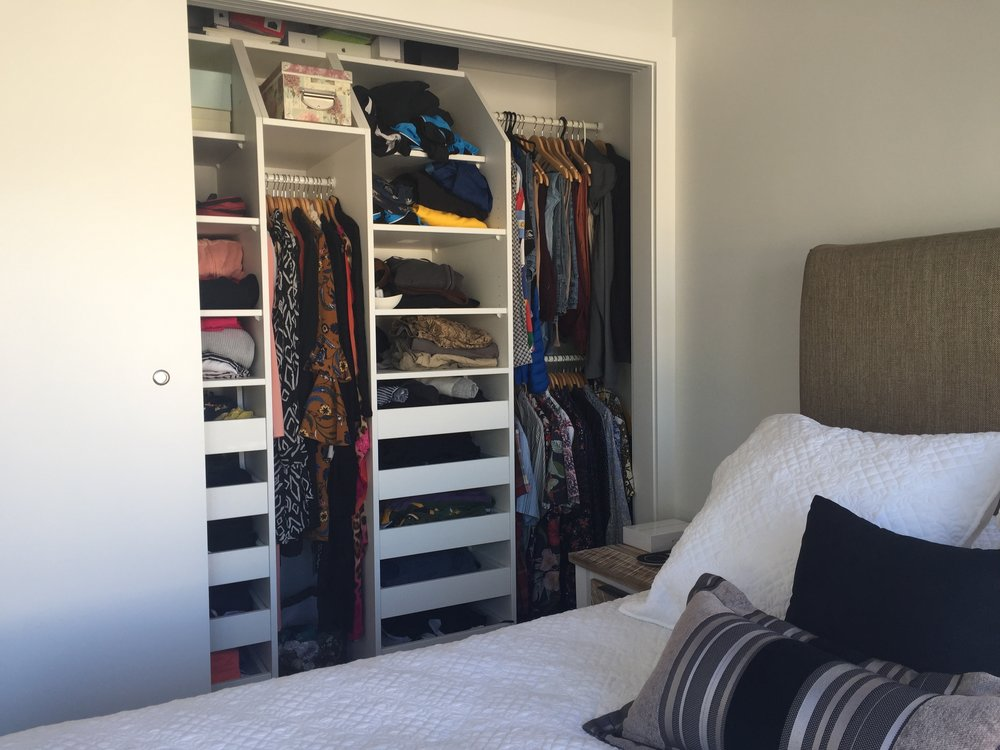 DIY wardrobe manufacture and fit out