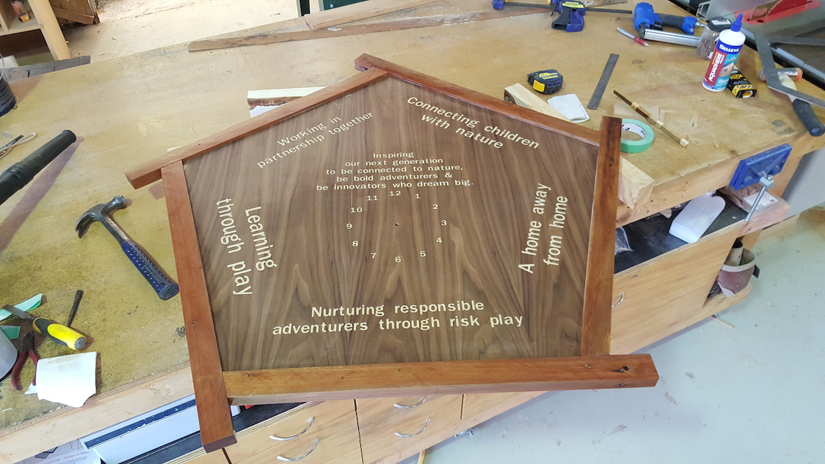 Plywood insert cut and engraved with Cutshop's CNC machine