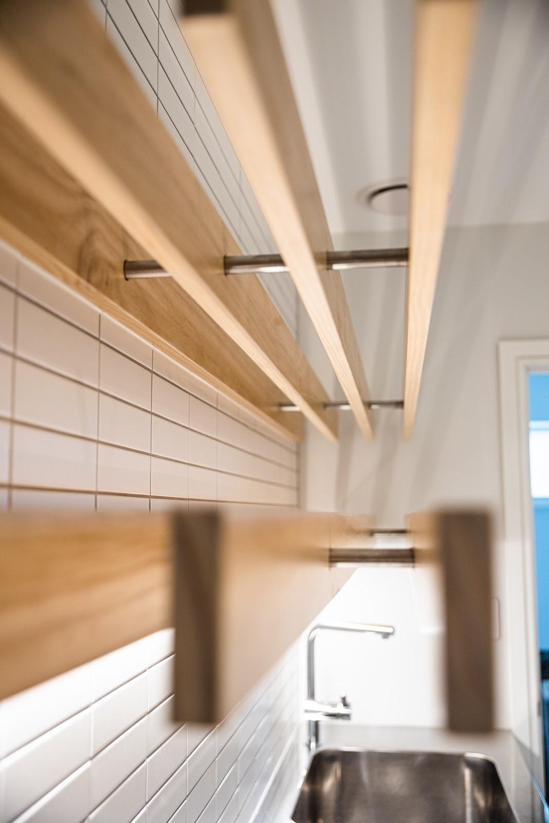 laundry wooden rails