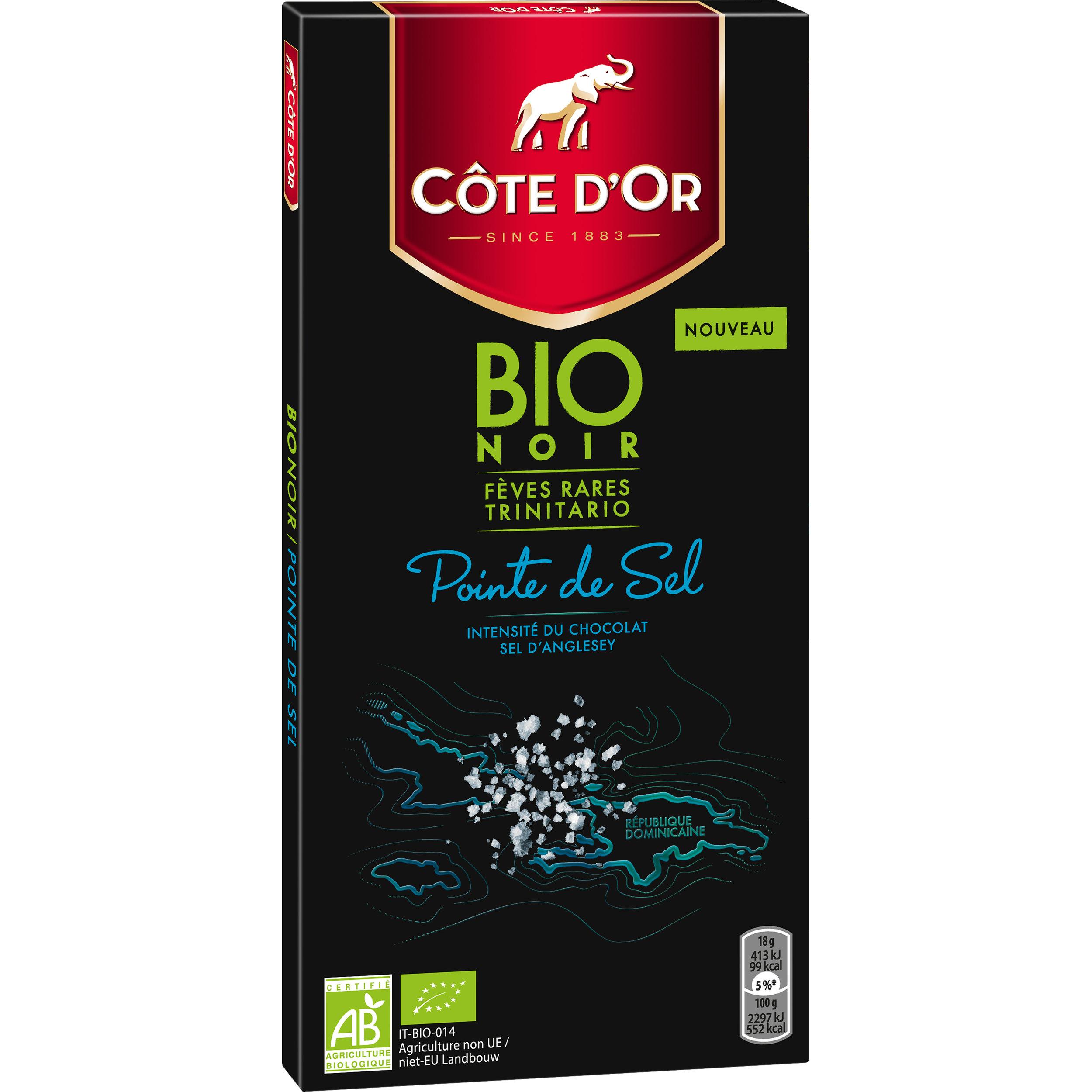 Côte d'Or BIO - Noir 60% Pointe de Sel