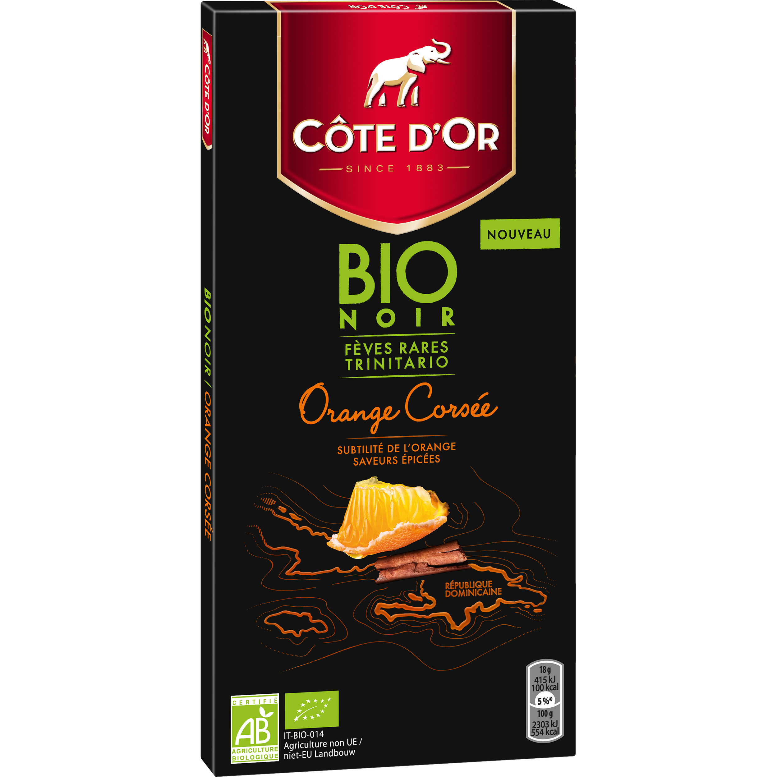 Côte d'Or BIO - Noir 60% Orange Corsée