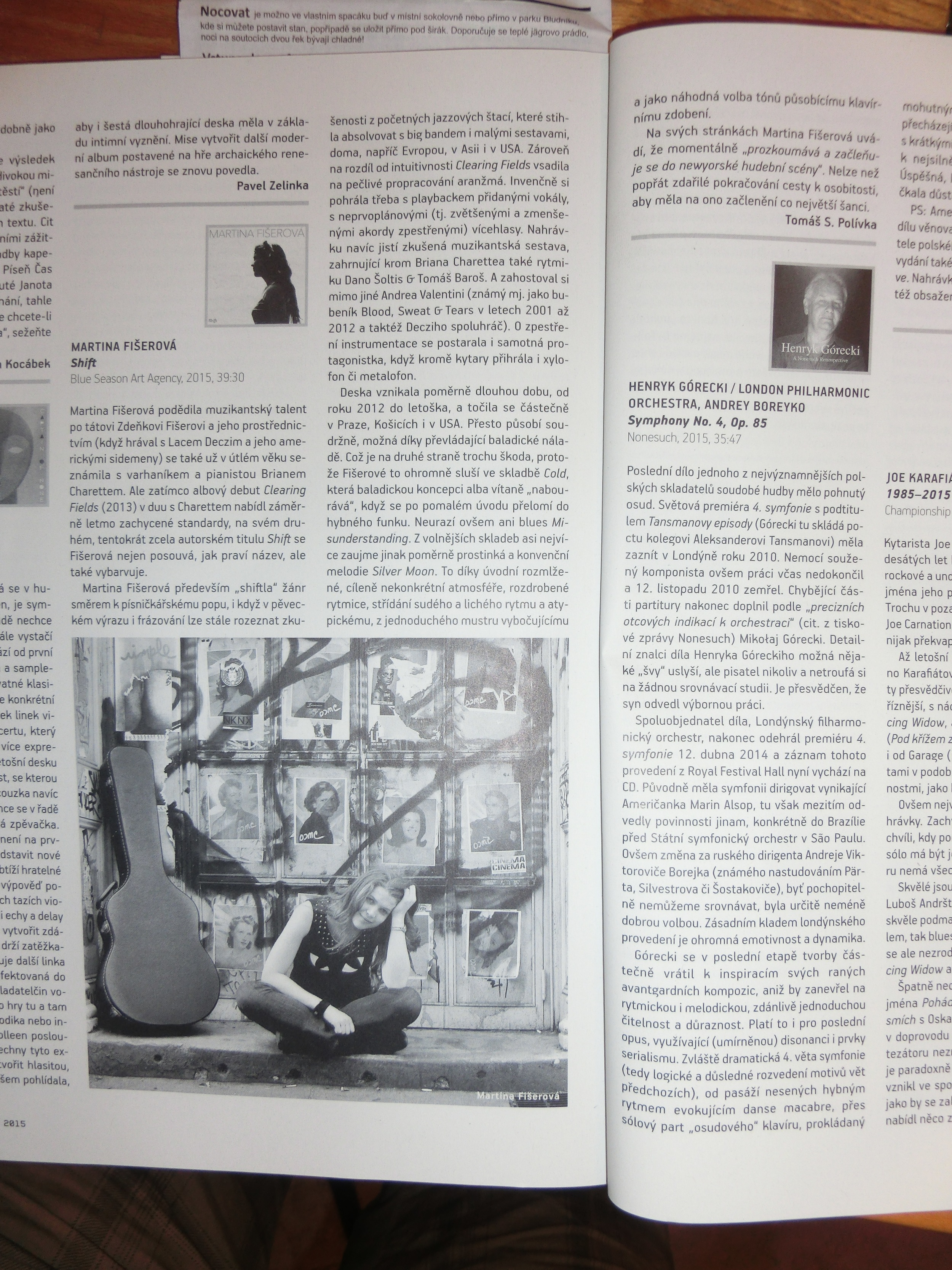 Recenze CD SHIFT v Kulturním magazínu UNI / SHIFT CD Review in UNI
