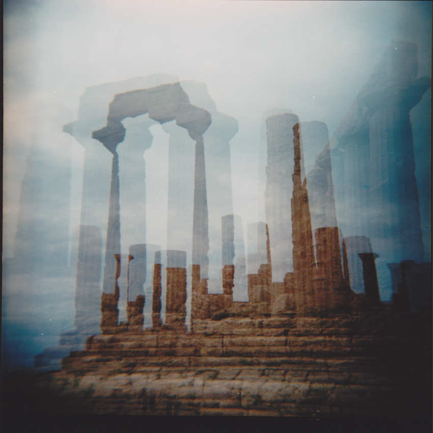 Camera: Diana F+  Film: Lomography CN 100. Double exposure  Location: Valle dei Templi, Agrigento, Italy