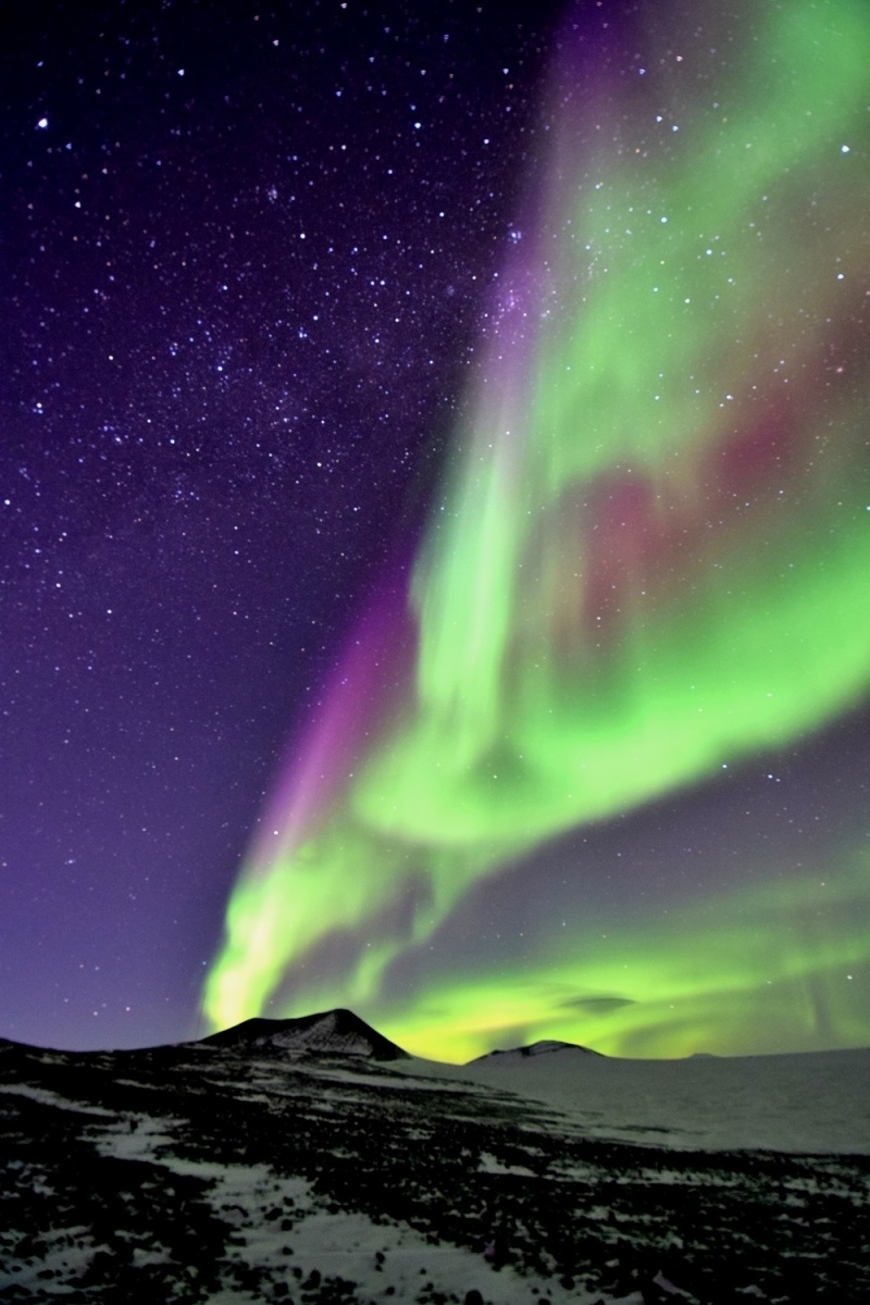 Aurora in Antarctica, photo by Jim Janoso