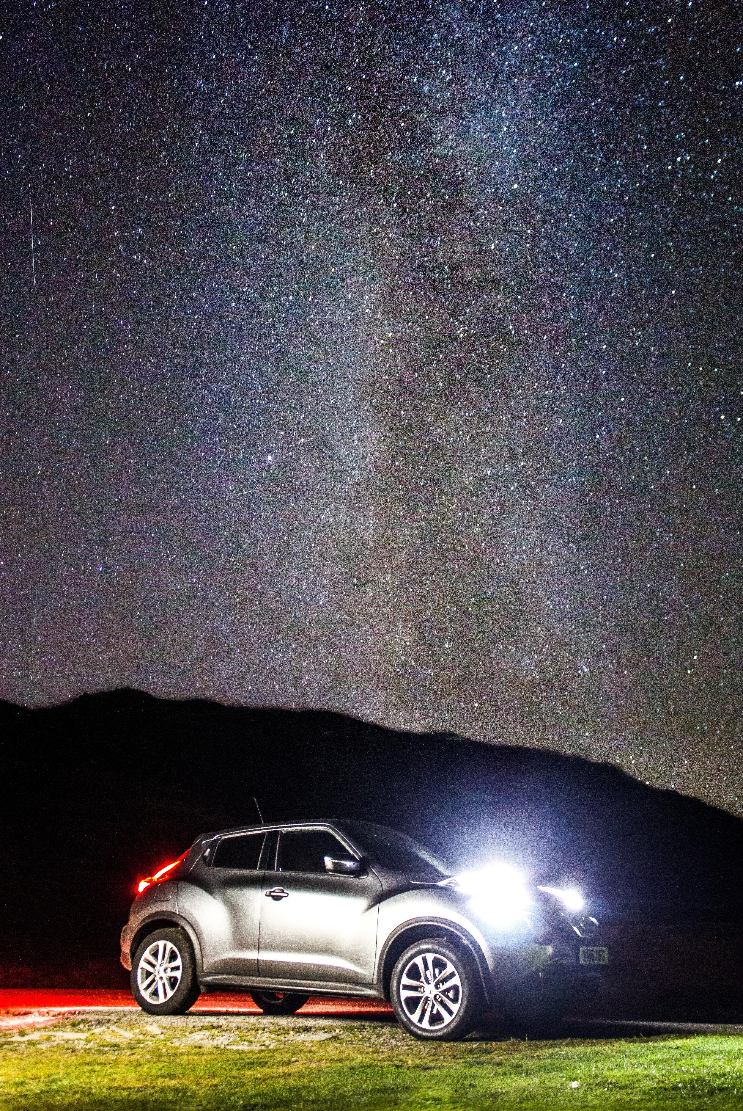 Nissan Juke and the night sky