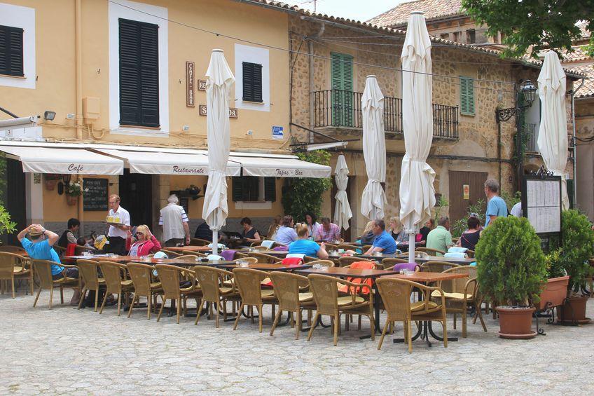 Foto de archivo: terraza en Mallorca