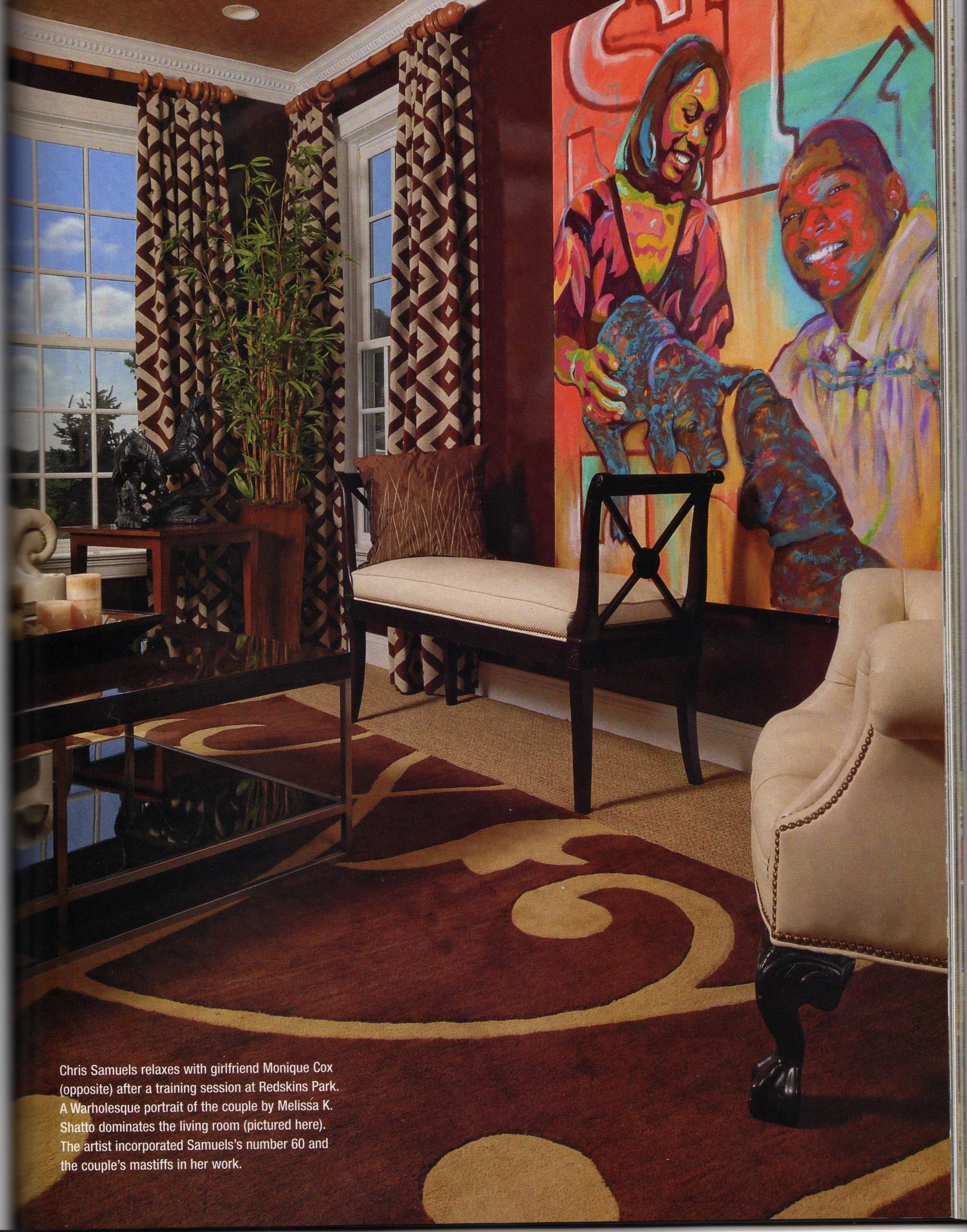 Pop Art Portrait, Architectural Digest, acrylic, canvas, large