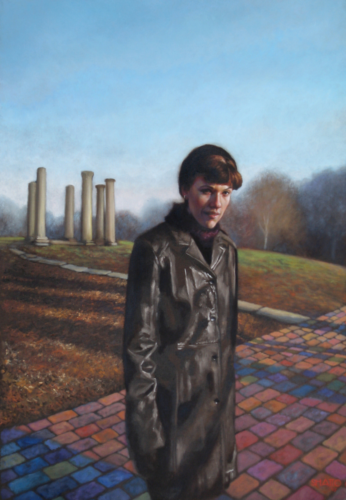 portrait of Kritter in fantasy landscape acrylic on canvas for National Portrait Gallery competition.jpg