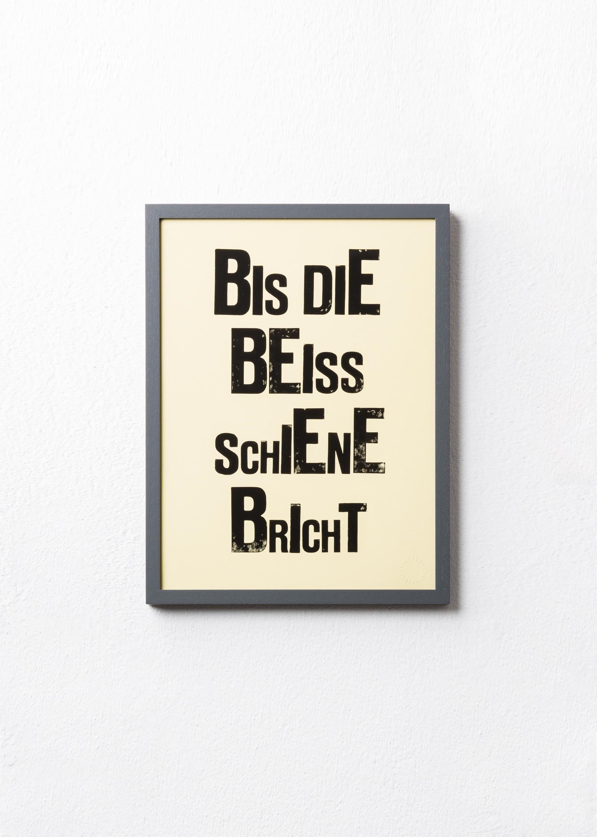 B EISSSCHIENE    Limited Edition Print /Handgestempelt   65 EUR