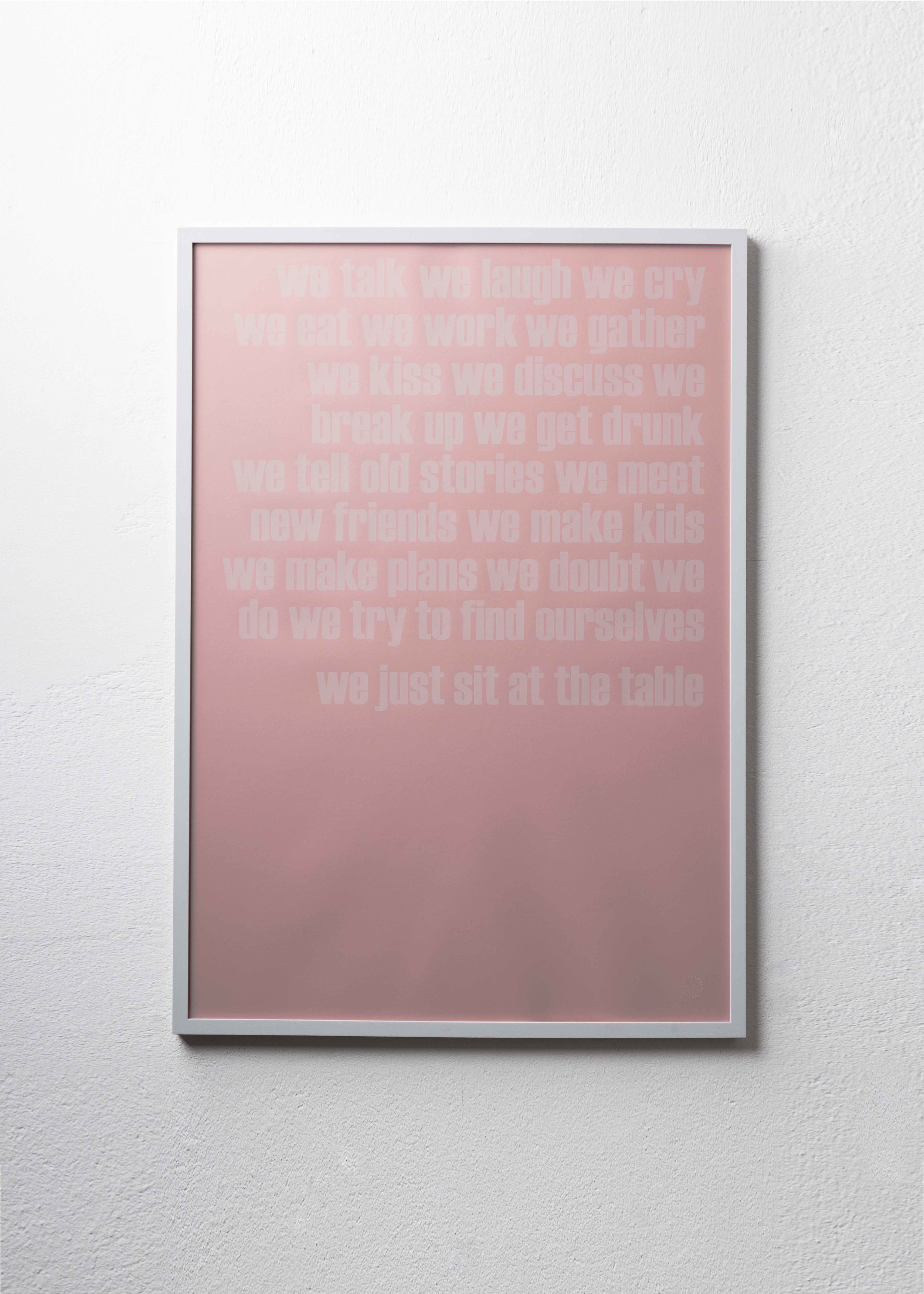 AT THE TABLE   Limited Edition Print / Handsiebdruck / 70 x 100 95 EUR