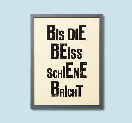 B EISSSCHIENE    Limited Edition Print /Handgestempelt    95 EUR