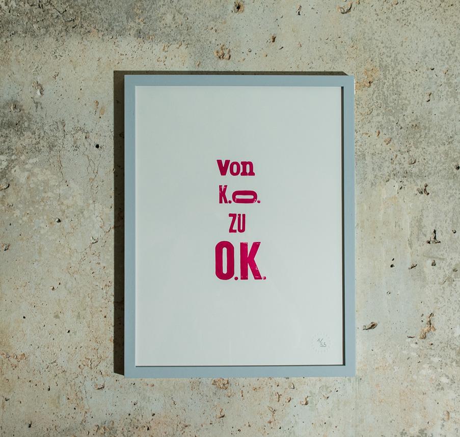 OK Limited Edition Print / Handgestempelt / 30 x 40   65 EUR