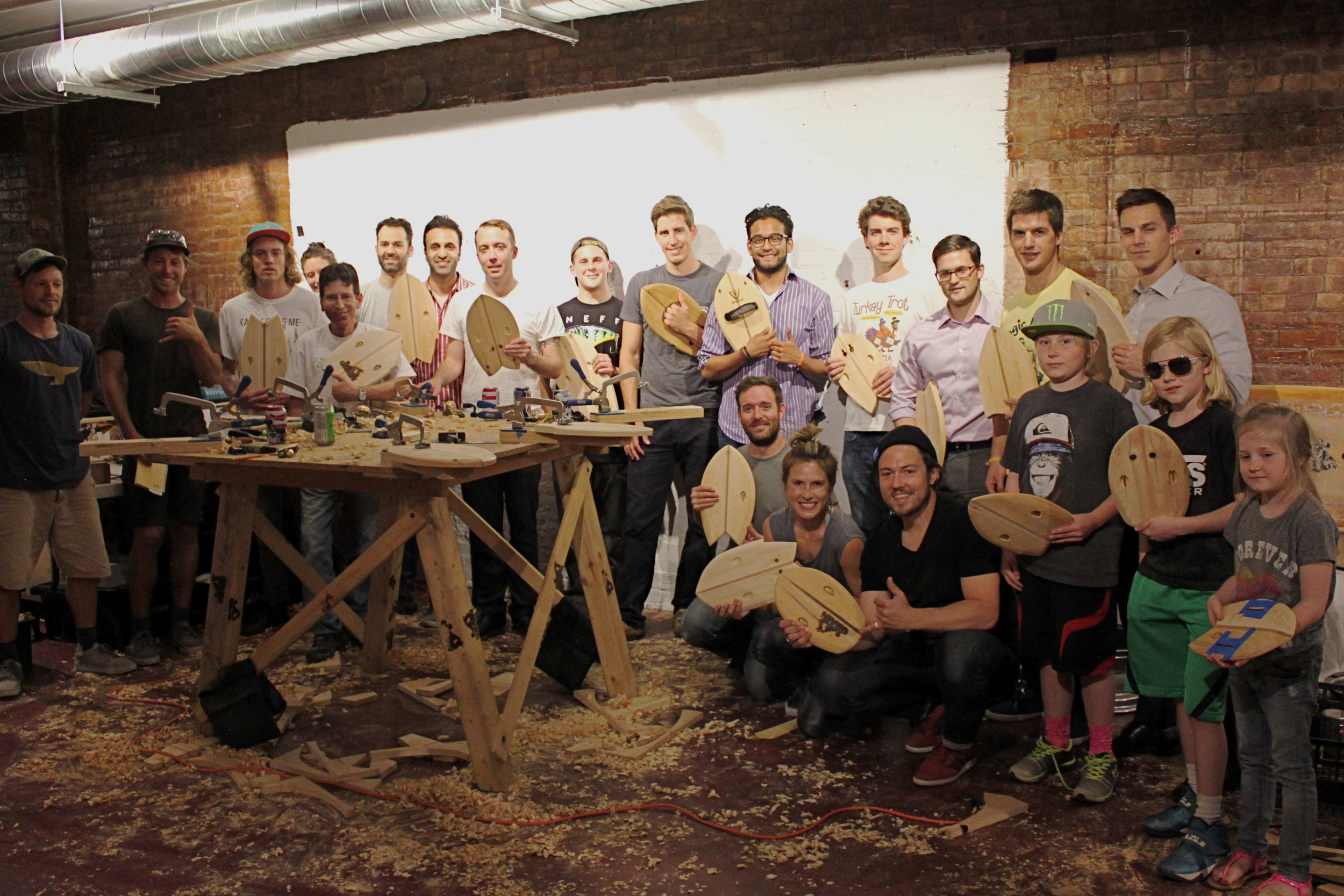 Incredible turnout for Grain Surfboard's handplane workshop at NYC's Patagonia Bowery.