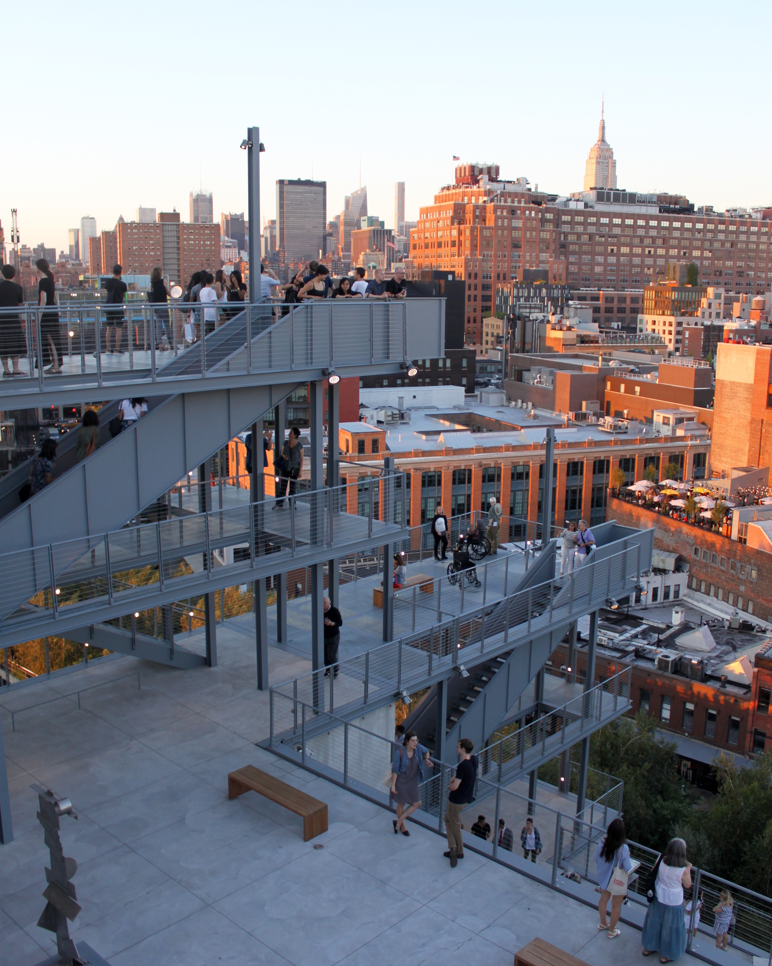 There really isn't a bad view from any of the terraces of the Whitney Museum.