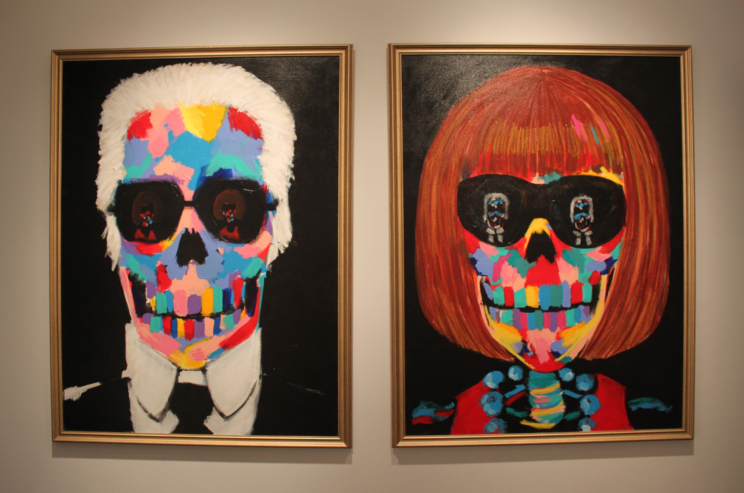 Bradley Theodore: (L)  Karl and Anna in Your Eyes,  2014, and (R)  Anna and Karl in Your Eyes,  2014