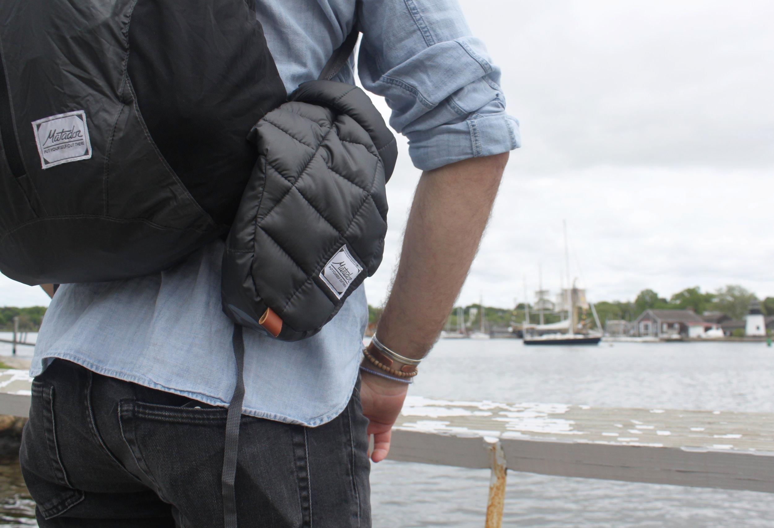 Matador Freerain24 Backpack: $59.99 ( L ) &  Matador Camera Base Layer: $59.99 ( R )