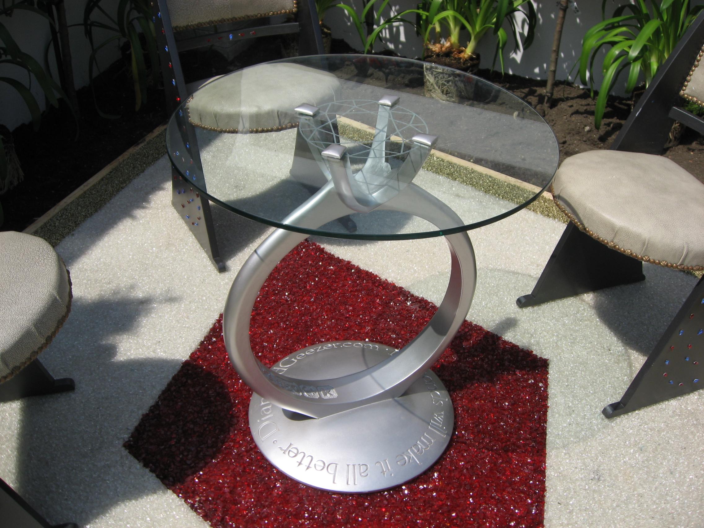 4 Diamond Ring table chelsea flower show.JPG