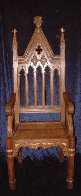 3 Gothic throne chair .JPG