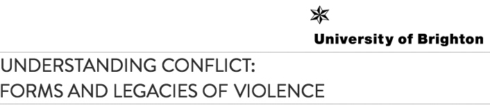 """This research is conducted through the """"Understanding Conflict"""" Research Cluster at the University of Brighton."""