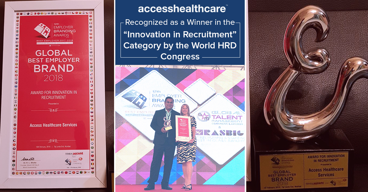 """Access Healthcare Recognized as a Winner in the  """"Innovation in Recruitment"""""""