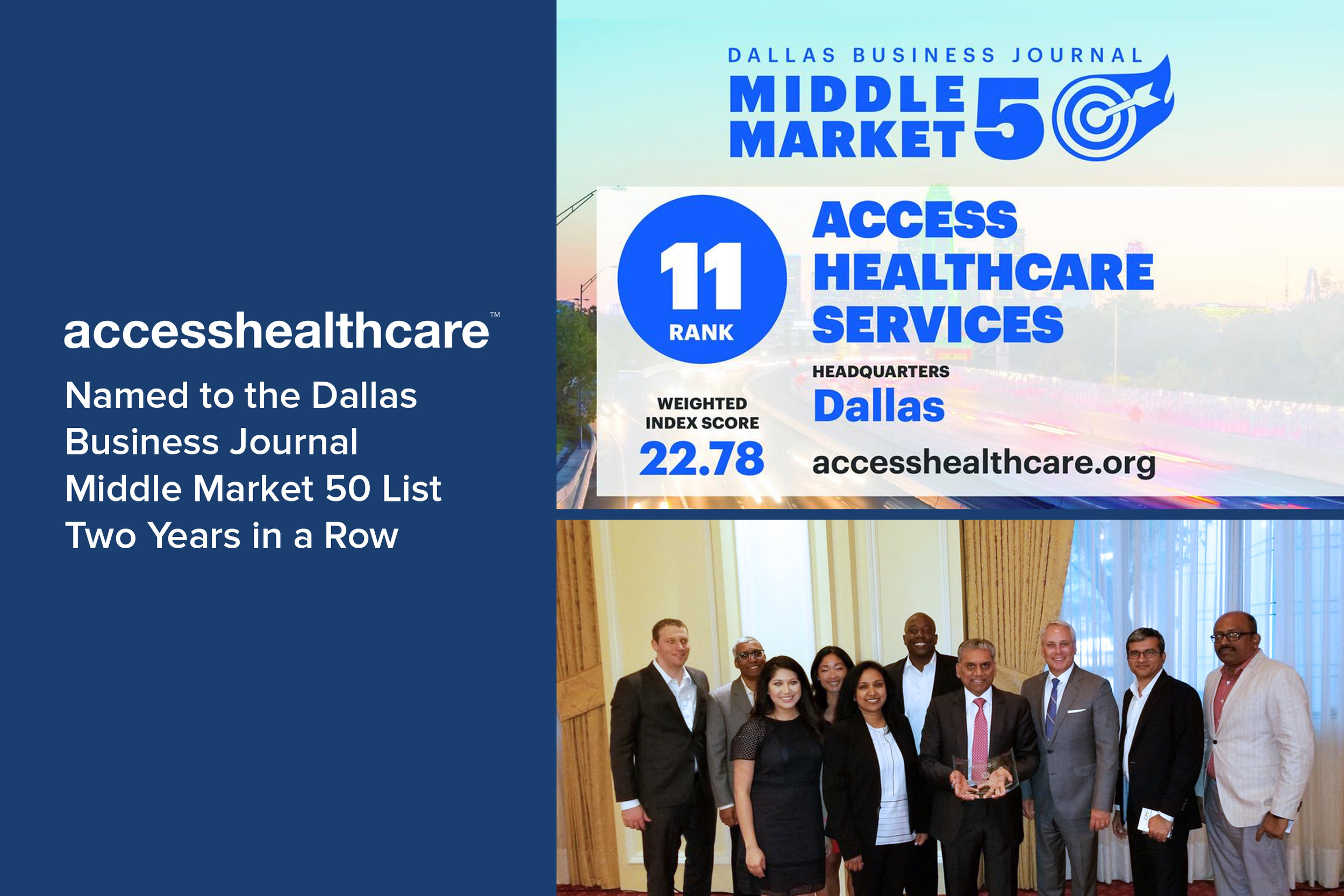 Access Healthcare Named to the Dallas Business Journal Middle Market 50 List Two Years in a Row.jpg
