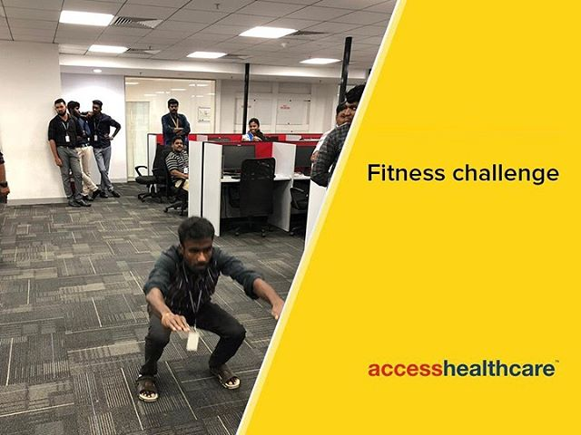 Fitness challenge Let's keep fit and fine, and let's have fun doing it! Our people in Chennai participated in the Fitness Challenge trying out a variety of poses meant to strengthen bones, ligaments and tendons throughout the body. Here are some glimpses to inspire you on a path of good health!  #AccessHealthcare #Fitness Challenge #FunatWork