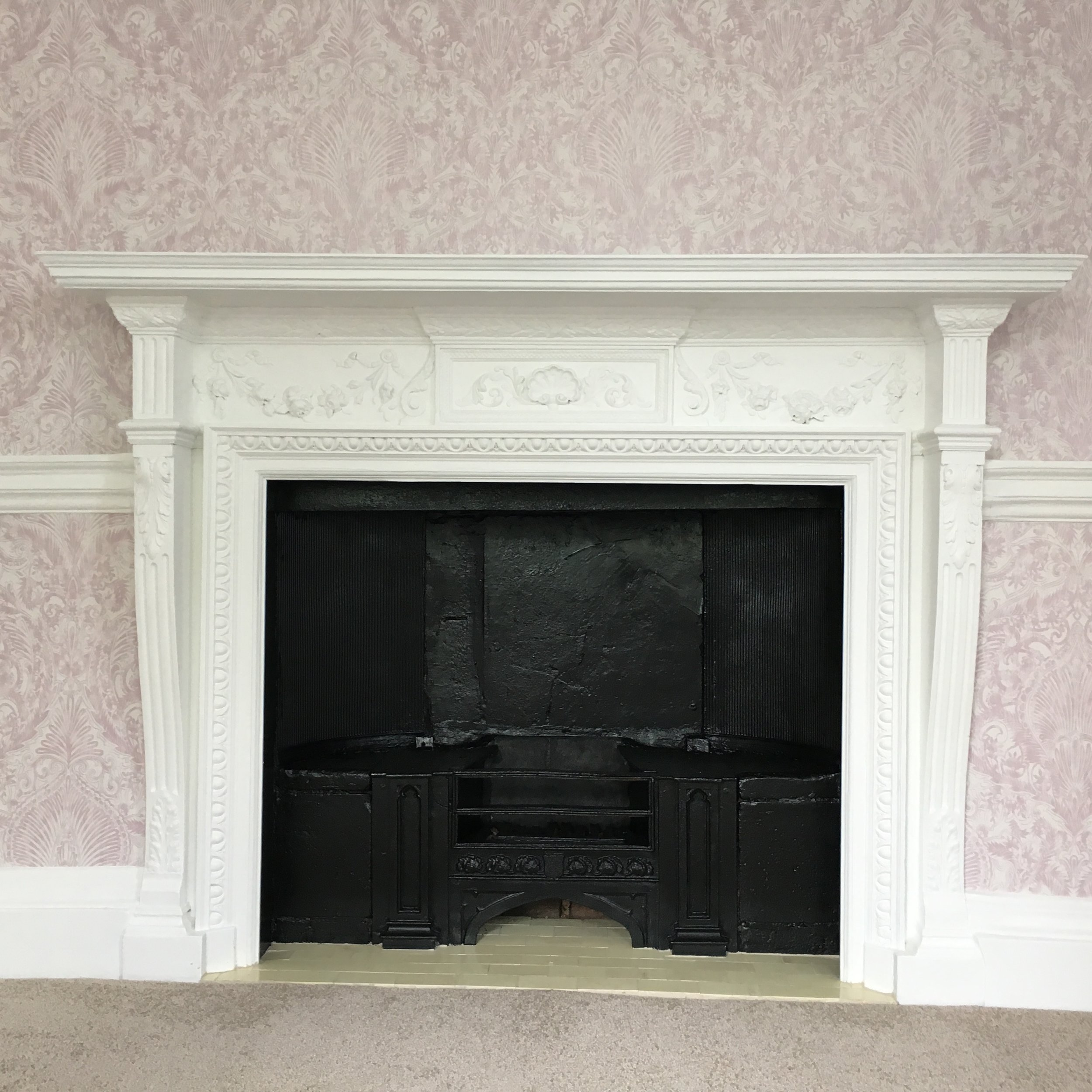 New surround installed and fireplace fully restored