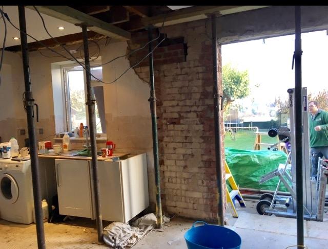 Kitchen Diner building works