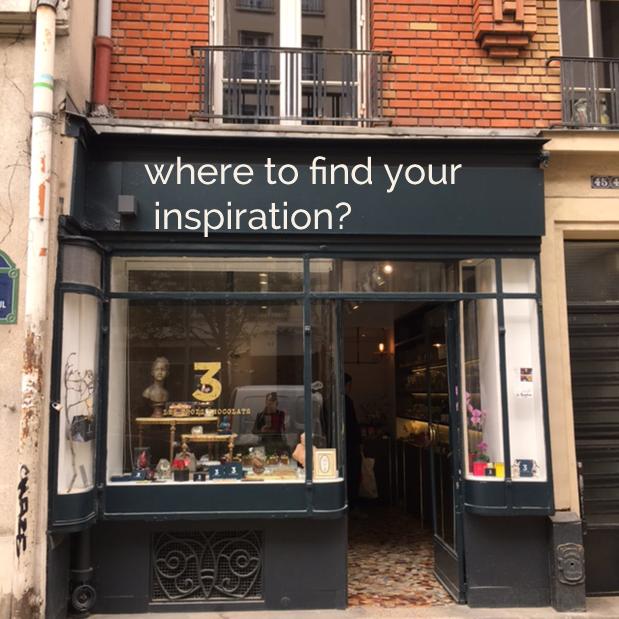 shop windows in the bustling Montmartre
