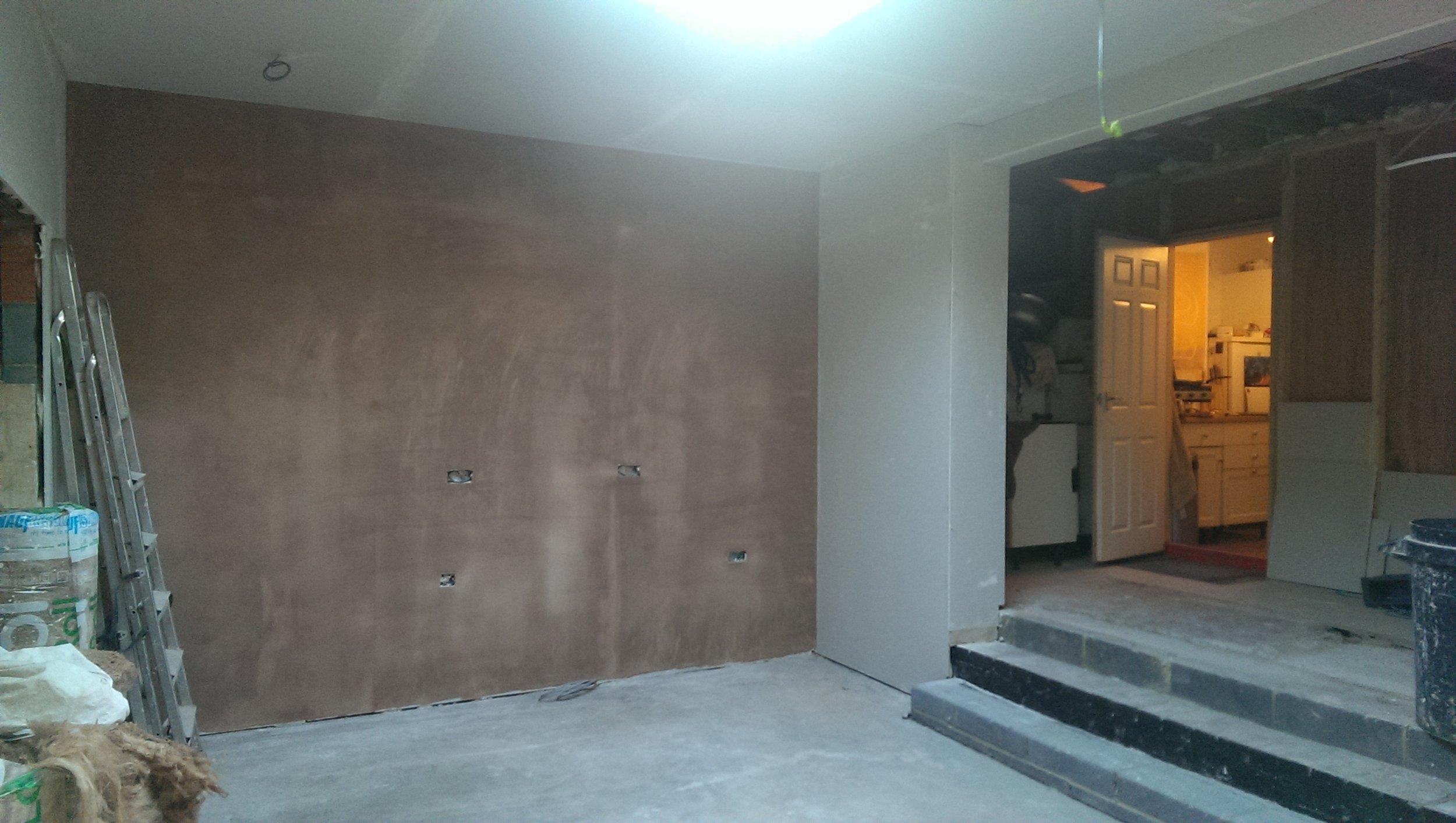 kitchen extension building works