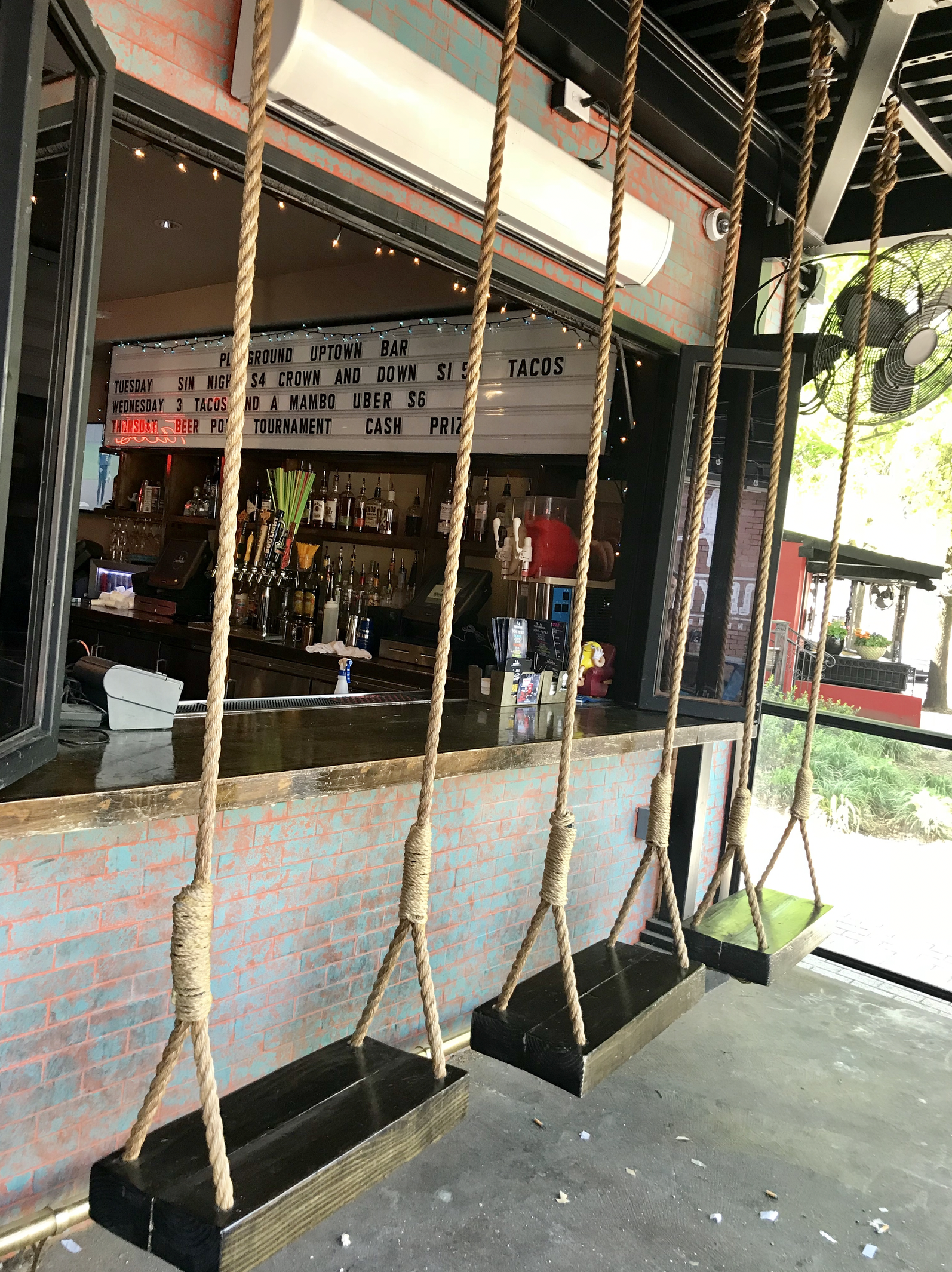 pretty cool way to 'hang' out at the bar