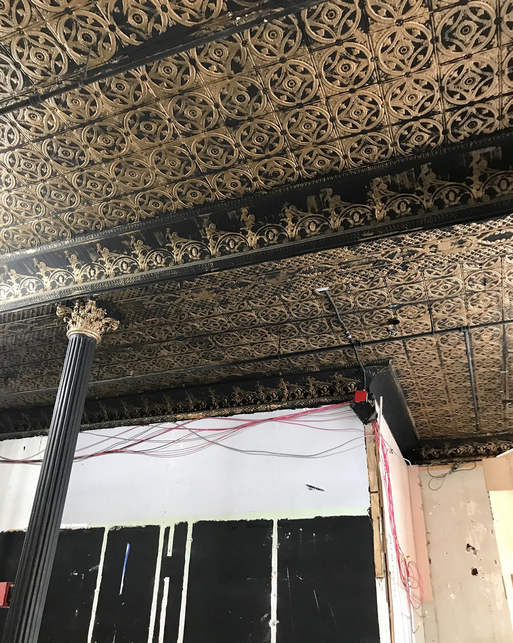 Brooklyn Tin Tiled ceiling