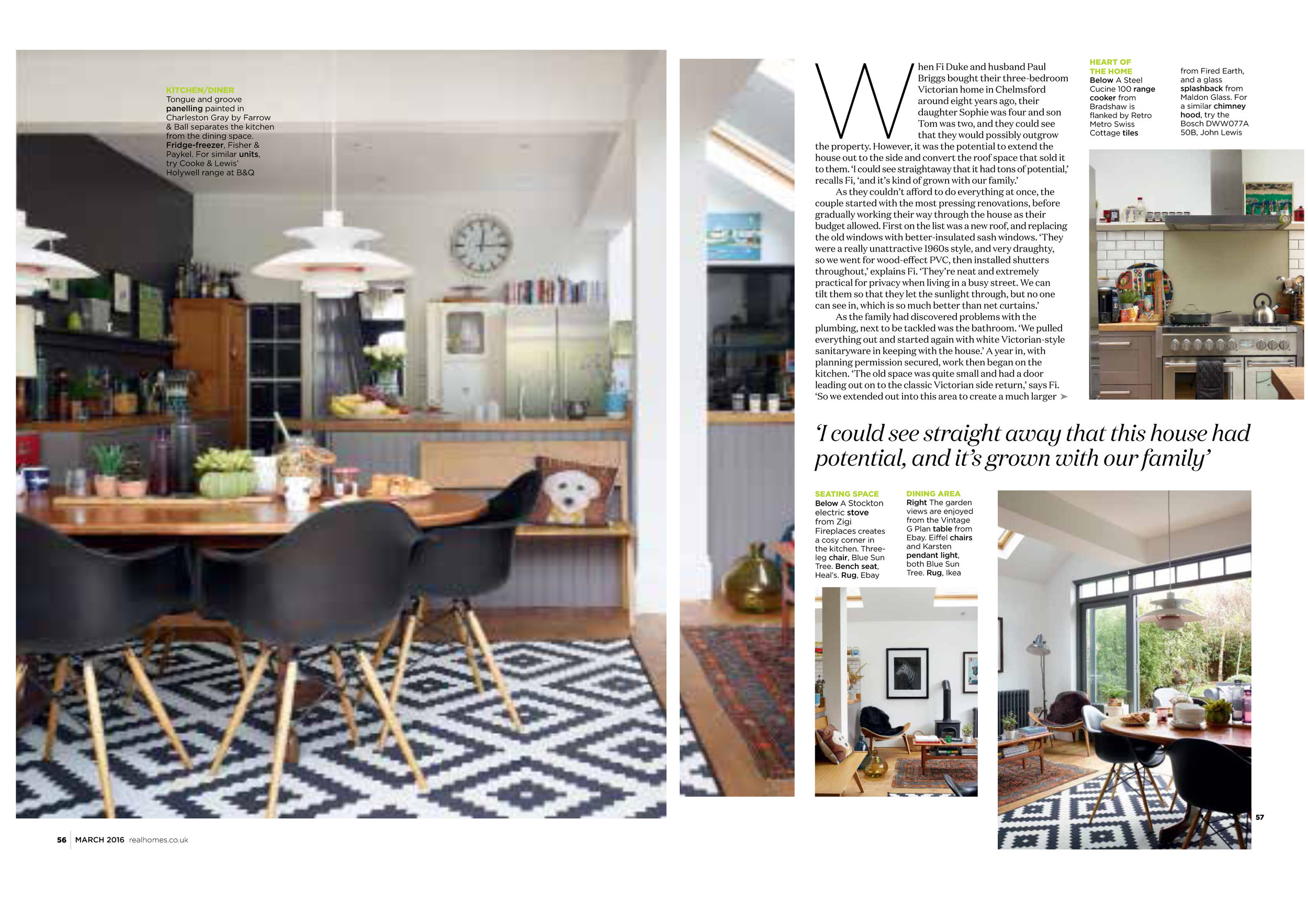Real Homes Cover Feature March 2016 Fiona Duke Interiors