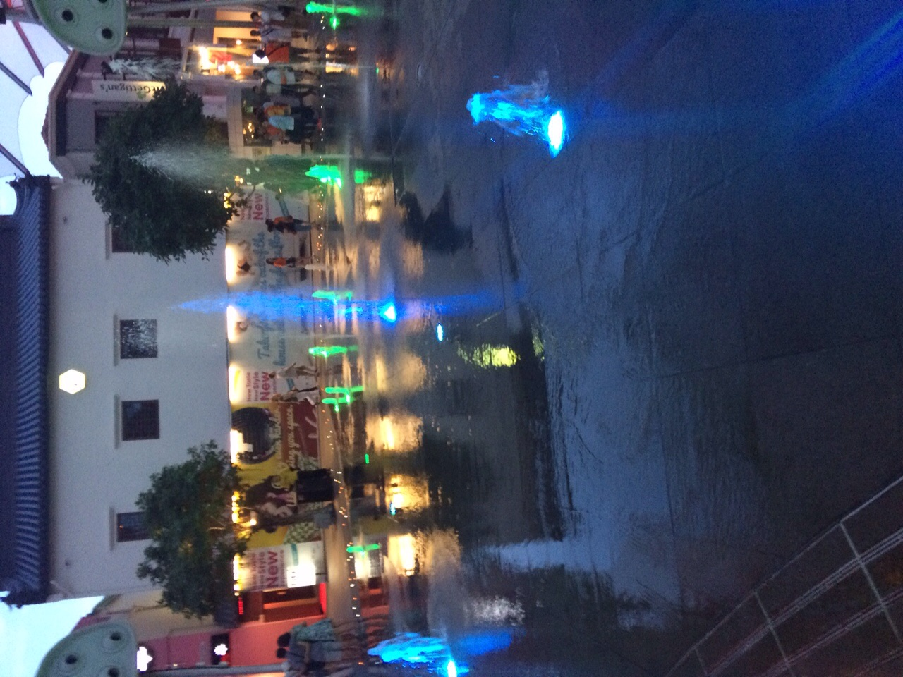 The fountains at Clarke Quay reminded me of the playgrounds at home