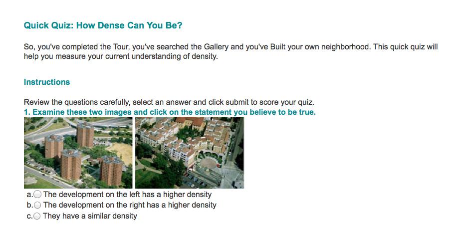 Visualizing Density Web Site