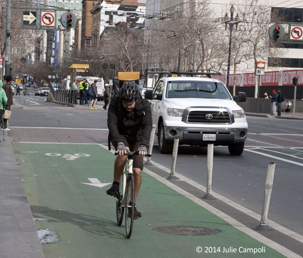 Cycle track, San Francisco, CA