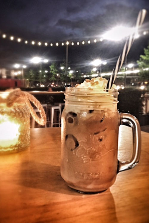 Iced Latte on a warm evening
