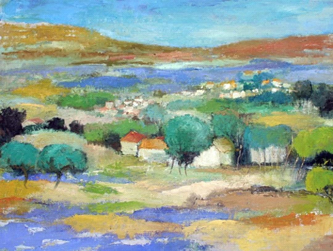 Provencal Landscape with Olives