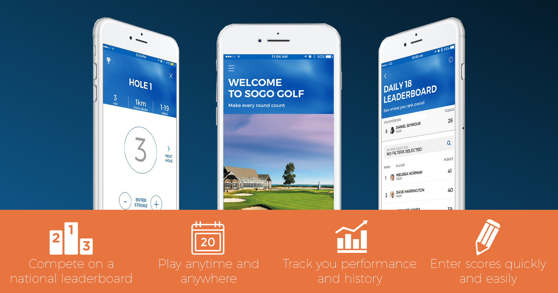 Download the SOGO Golf App - Australia's best Golf Competition