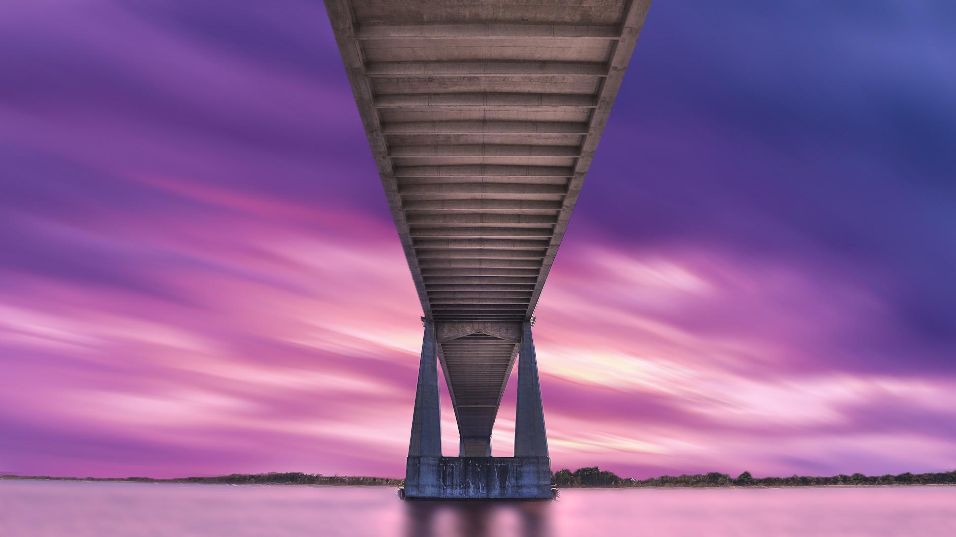 The Dames Point Bridge - Jacksonville, FL. Photo by Adam Szarmack.