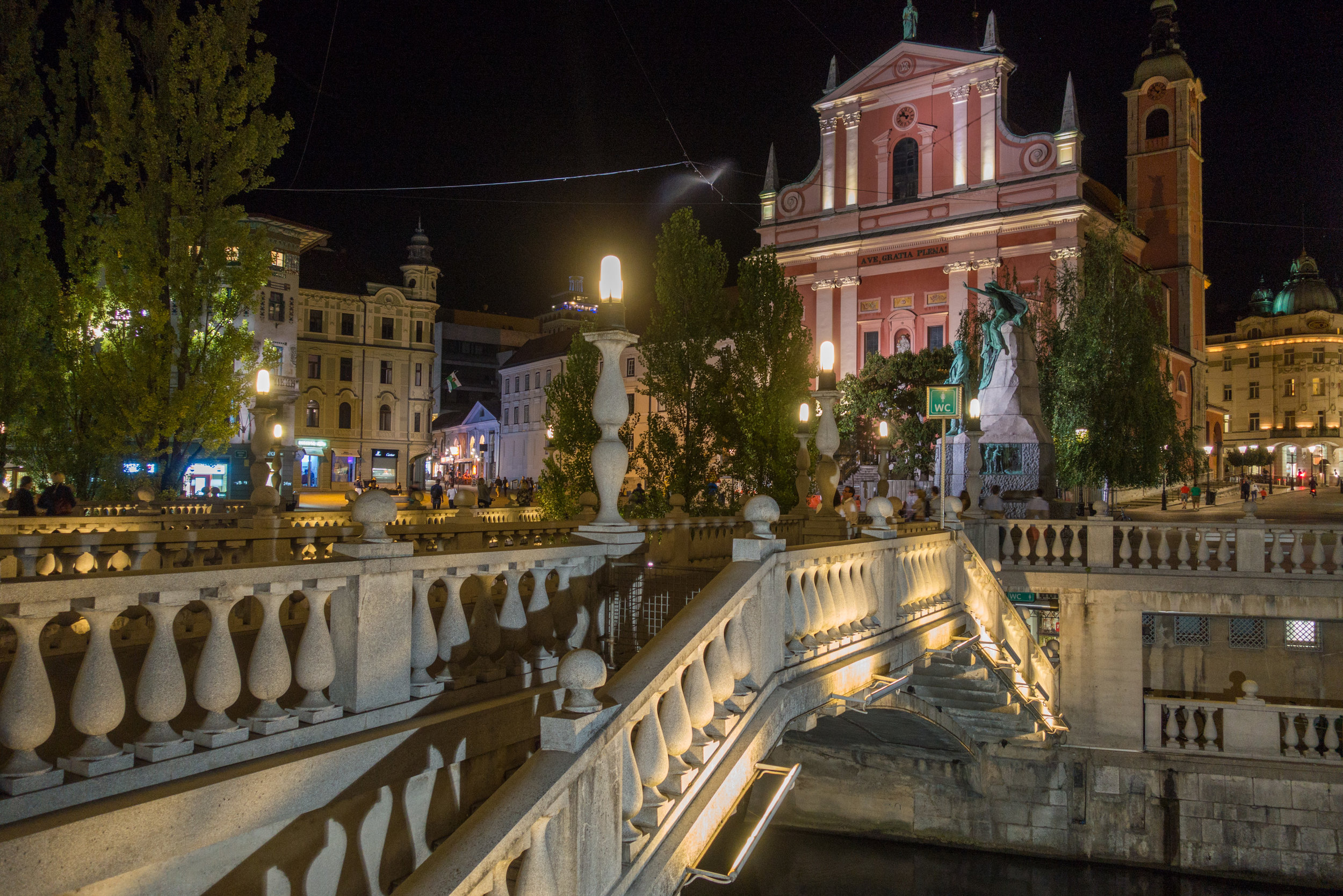 5.) Ljubljana, Slovenia - Stay in the Tivoli Park overnight, then when you are ready to leave, get up early and make the drive to Lake Bled.