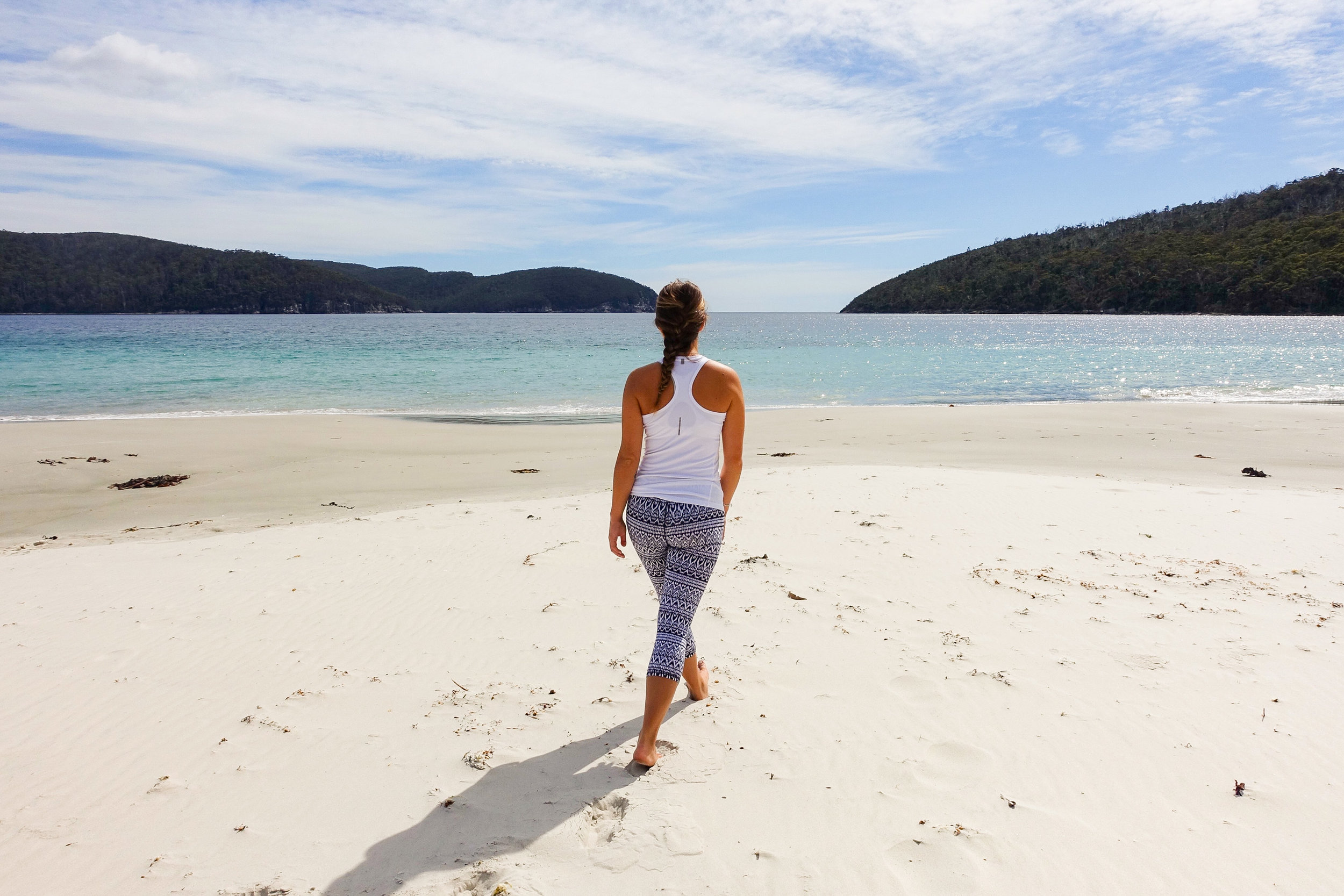 4.)Fortescue Bay - Located further south in the Tasman National Park, Fortescue Bay is a sheltered, white sand beach. Camp right next to the beach and if you have time we recommend the walk to Cape Hauy.