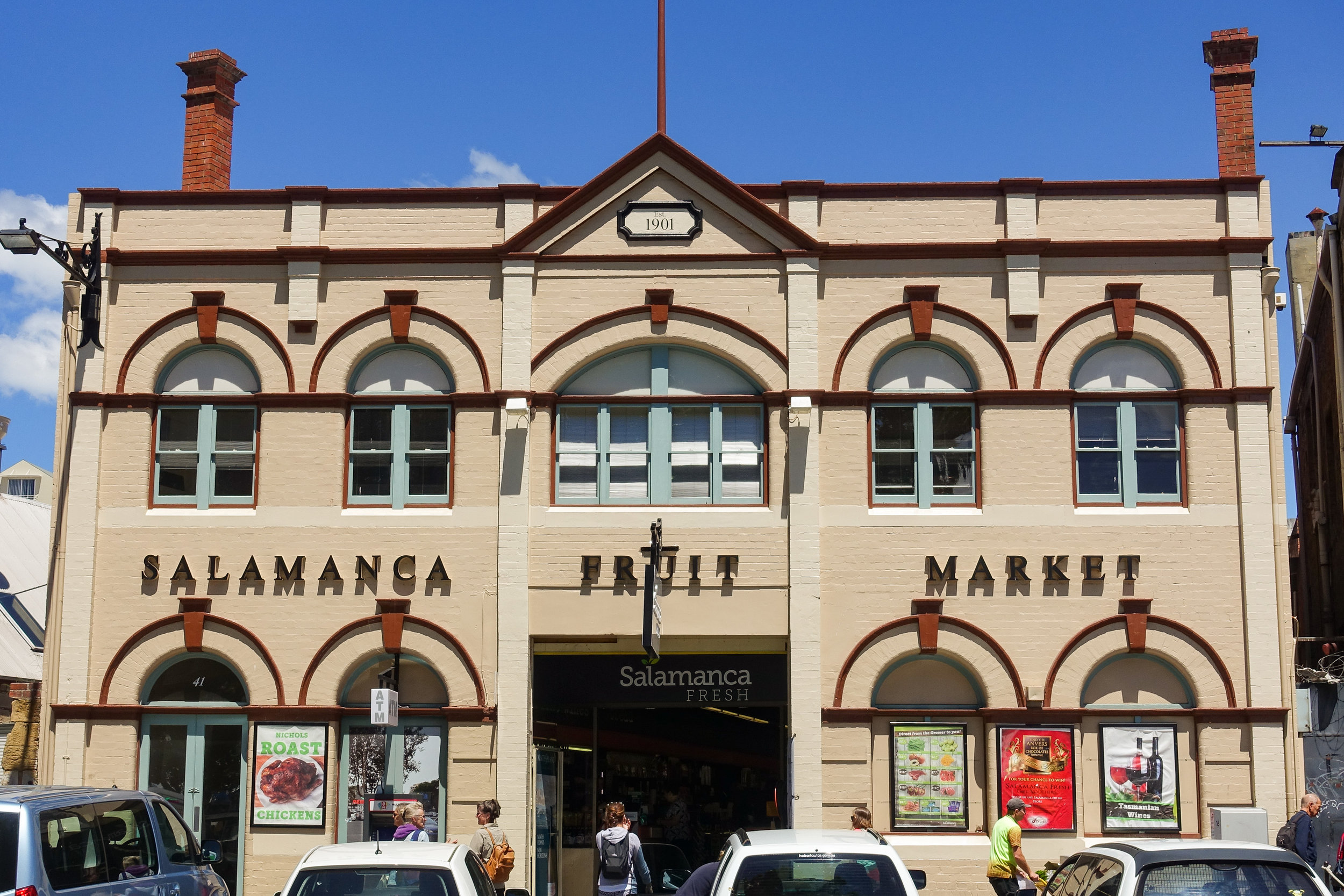 5.)Hobart - No stop here is complete without a trip to the Salamanca Market on Saturdays. The acclaimed MONA museum is closed on Tuesdays, so time your trip to Hobart accordingly to fit in both.