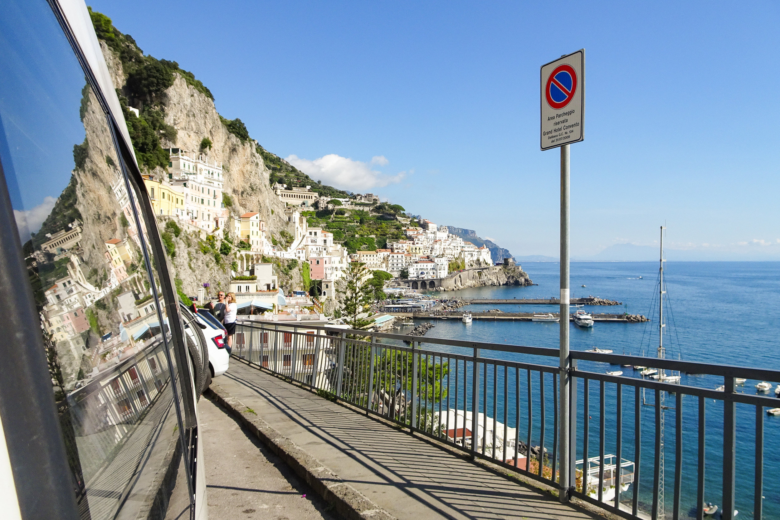 2.)Amalfi Coast - While the Amalfi Coast is gorgeous, vans are considered unwelcome and security will tell you to move on. Dense traffic takes away from the picturesque experience. Do yourself a favour and visit this beautiful region by train. That way you can enjoy everything it has to offer,without the stress.