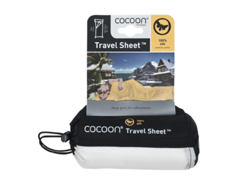 16.)Cocoon Silk Travel Sheet - For a little bit of luxury, we swear by our silk camping sheet. It packs down tiny, keeps you cool and resists odour.