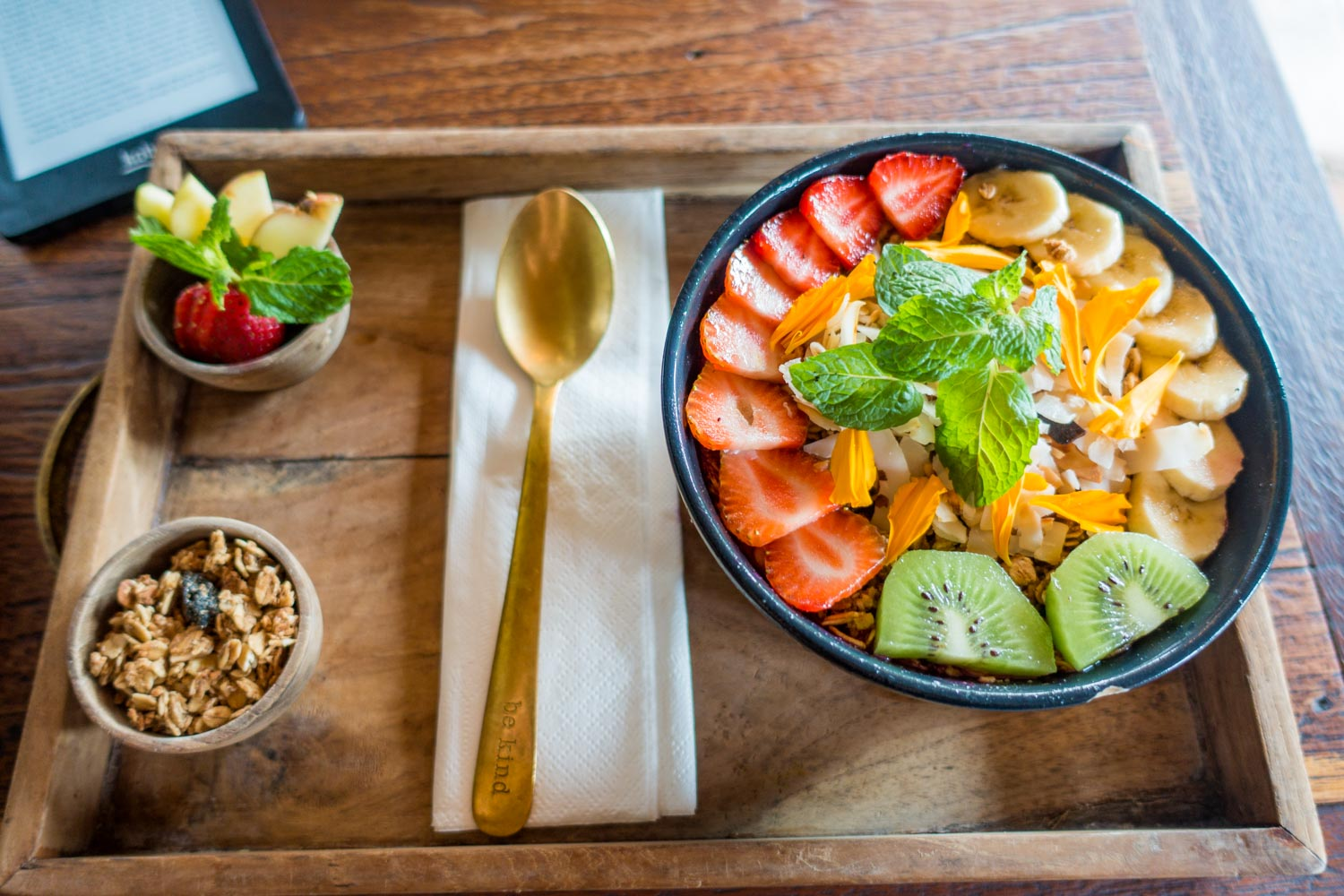 2.)Bali(Indonesia) - I personally could live off the fresh smoothie bowls and salad options, but try out the local dish gado gado.