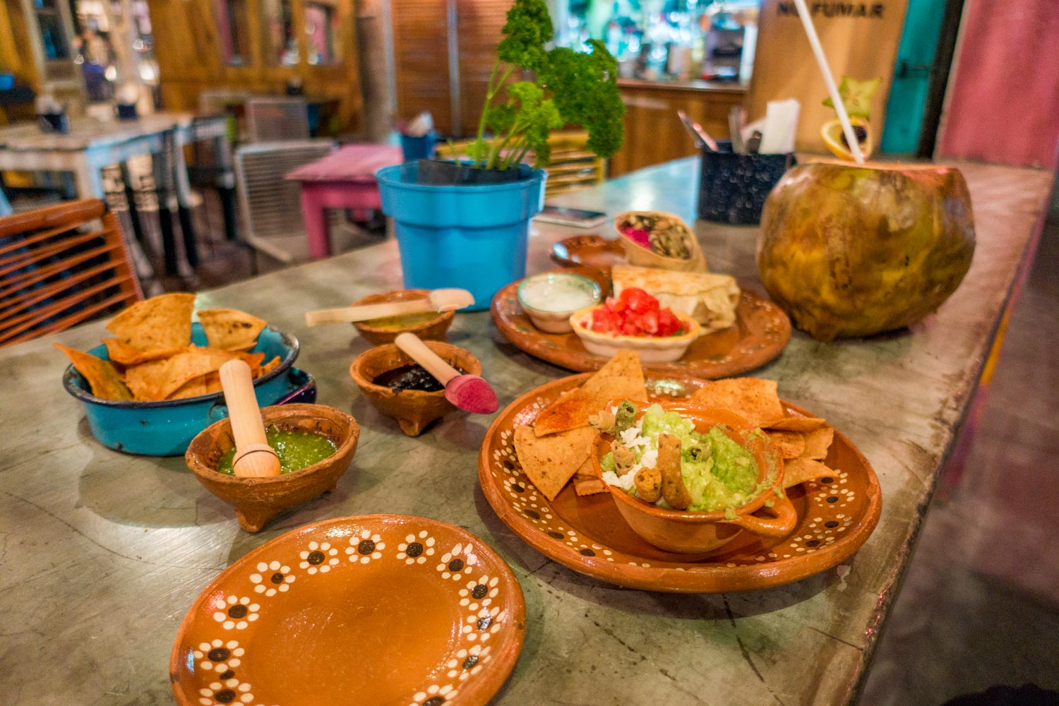 3.)Mexico - You'll enjoy countless tostada and taco options. My recommendation ask for pina (pineapple) on everything and make sure you try nopal (cactus).