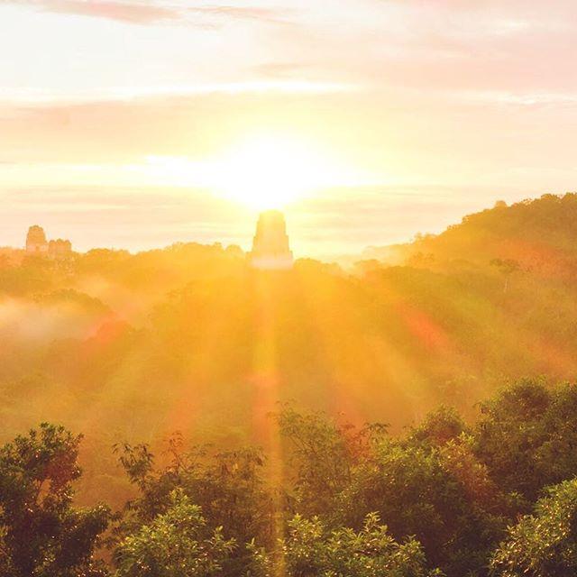 Sunrise in the lost world... sitting on temple steps and listening to the jungle wake up. . . . . . . . #coupletravels #adventuretravel #hikingfun #minimalisttravel #hiphikers #hiphikerstravel #budgettraveller #adventureislife #travelnow #travelblogs #coupletrip #adventurouslife #longtermtravel #travelphotography #travelphotoblog #travellight #travelmoments #travelmemories #digitalnomads #optoutside #visitguatemala #guategram #perhapsyouneedalittleguatemala #tikal #mayanruins #inthejungle #junglelife #junglevibes #bestsunrise
